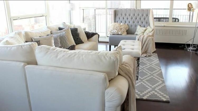 muebles salon en gris blanco