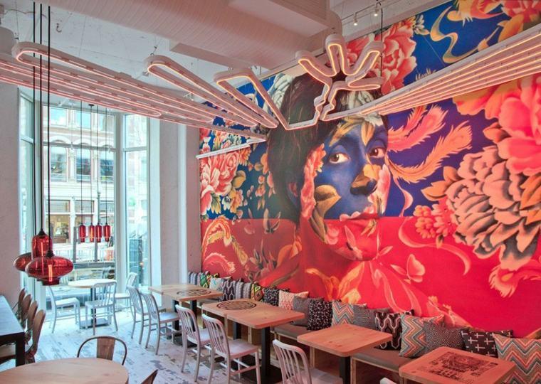 paredes creatividad mural colores sistemas casas