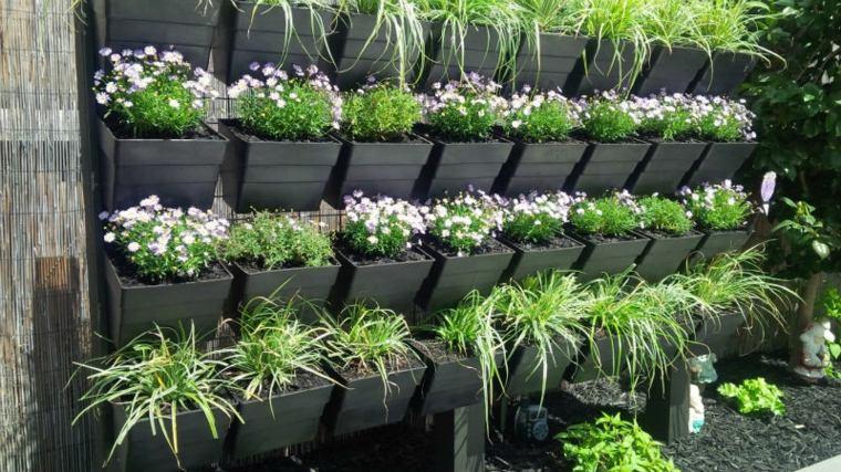 Jardineras verticales ideas sencillas para colgar plantas for Muros de plantas verticales