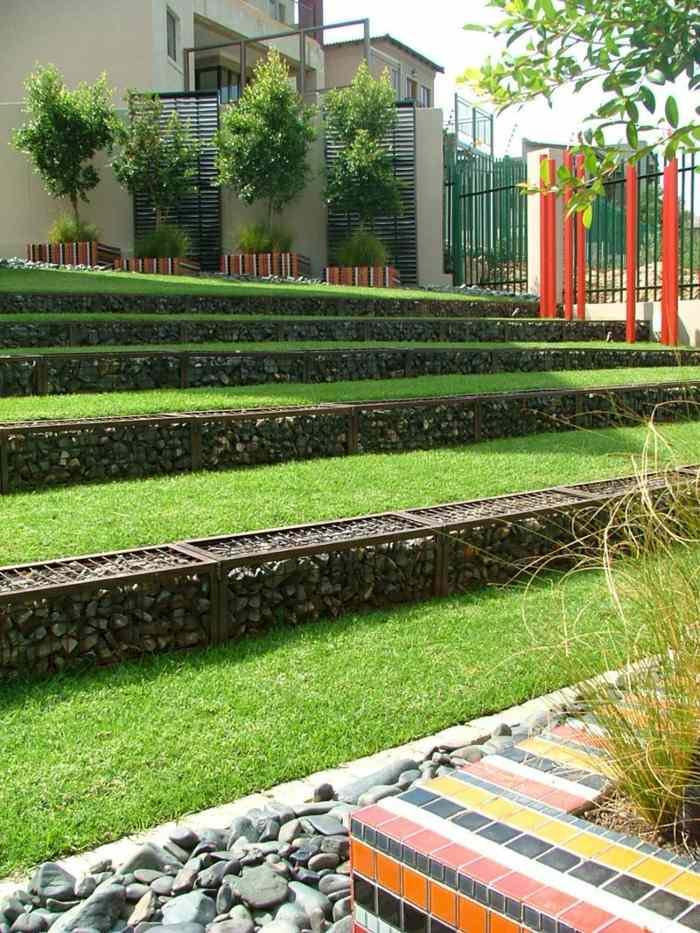 Muros ideas y otras aplicaciones asombrosas con gaviones for Muros de jardin