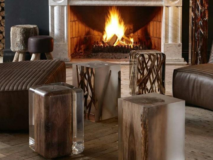 naturaleza mobiliario calido salones fuego