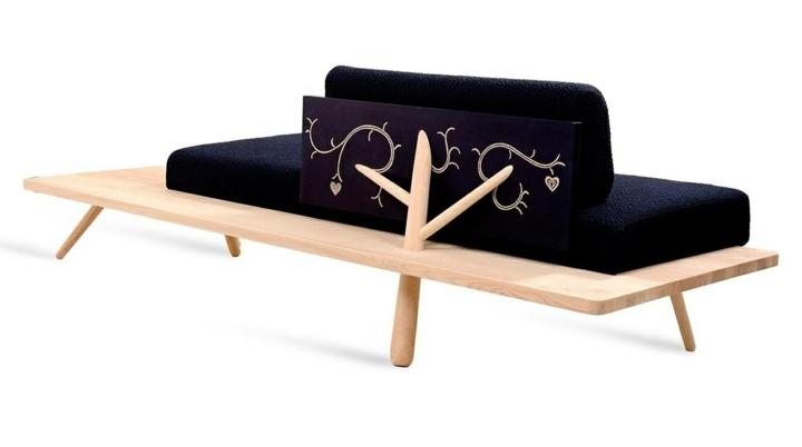 naturaleza mobiliario estilo plantas ramas lineas