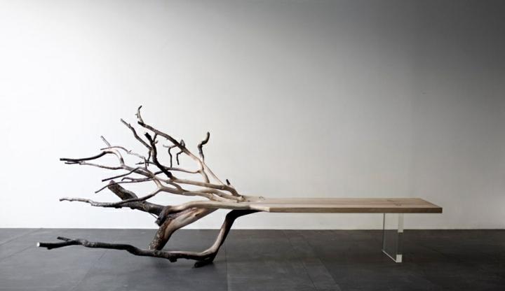 naturaleza mobiliario estilo plantas acrilico