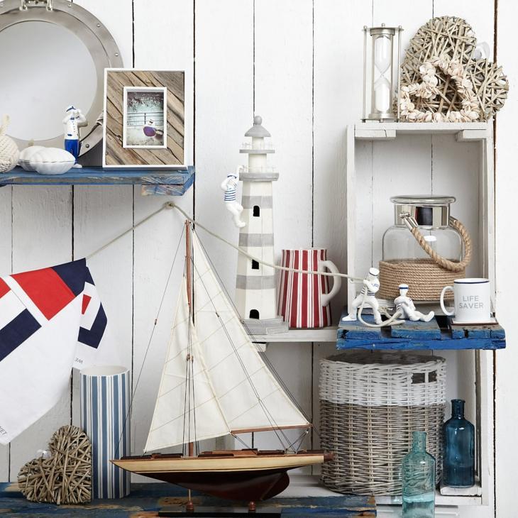 nautico decorado salones banderas cuadros