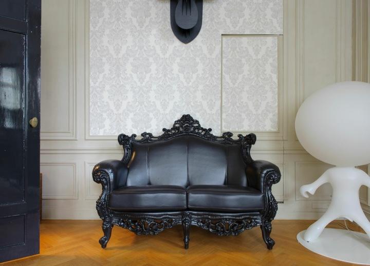 negro atractivo casas muebles salas ideas senderos