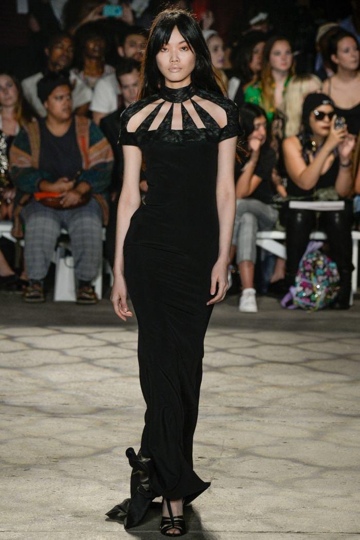 vestido largo color negro