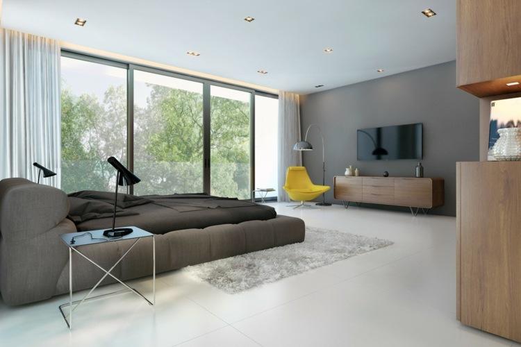 negro salones muebles led sillones