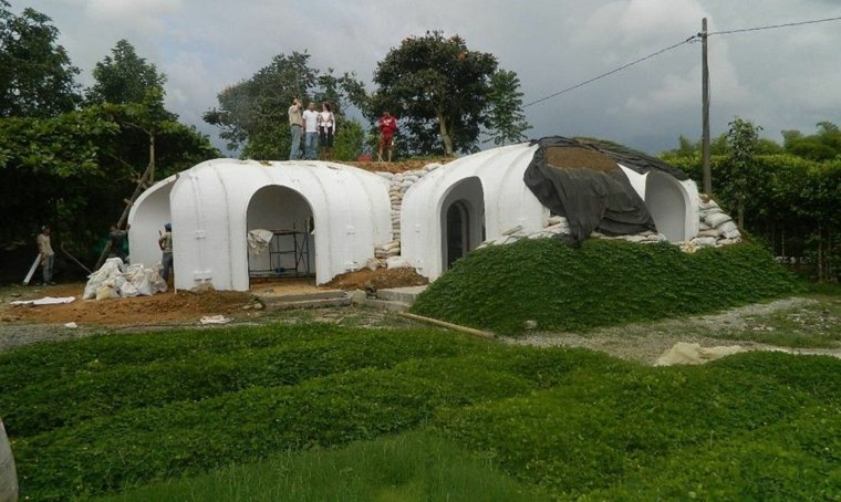 obras casa campo forma iglú