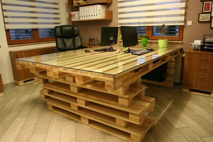 oficinas palet detalles maderas marrones oficinas