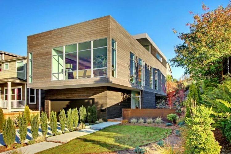 Minimalismo en el jard n 100 dise os paisaj sticos - Diseno jardines pequenos para casas ...