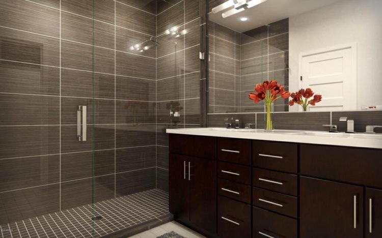 opciones bano lavabo oscuro ducha ideas