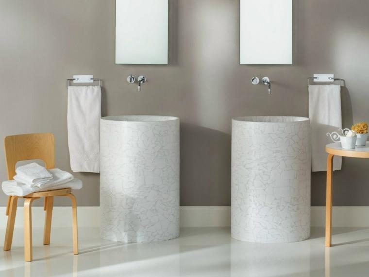 opciones banos amplios dos lavabos ideas