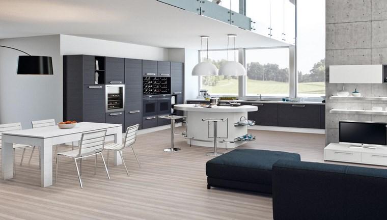 Cocina cuadrada con forma de u o l m s de 50 ideas para for Cocinas abiertas al salon pequenas