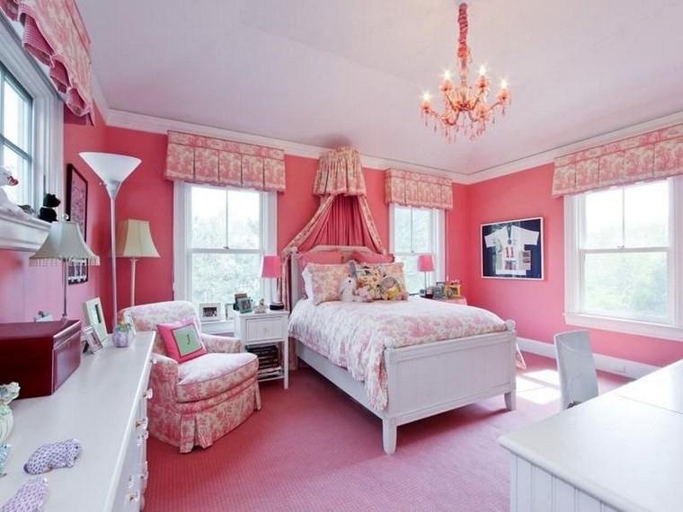 opciones decoracio habitacion nina alfombra rosa ideas