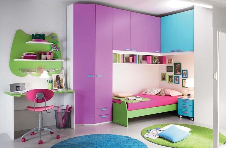 opciones decoracio habitacion nina alfombras forma circulo ideas