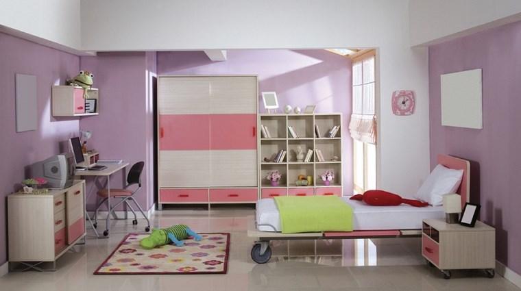 opciones decoracion habitacion nina cama ruedas ideas