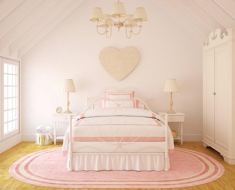 opciones decoracion habitacion nina corazon pared ideas