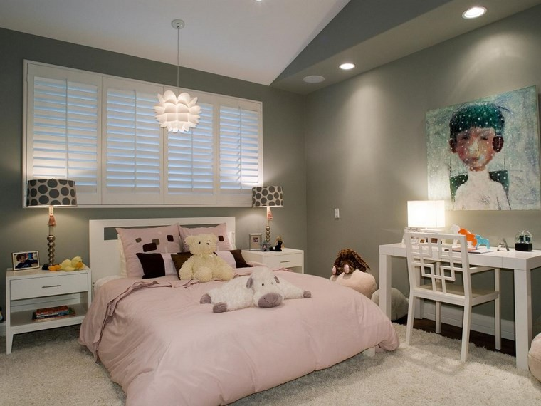 opciones decoracion habitacion nina escritorio blanco ideas