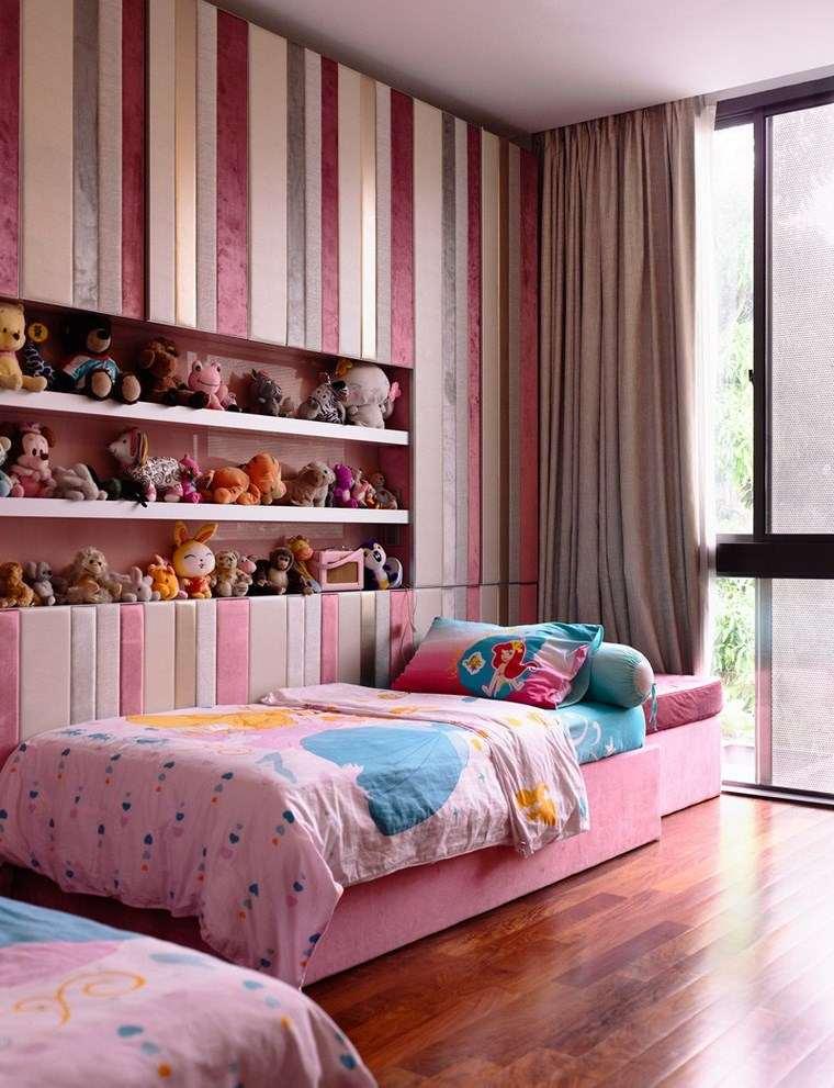 opciones decoracion habitacion nina estantes peluches ideas