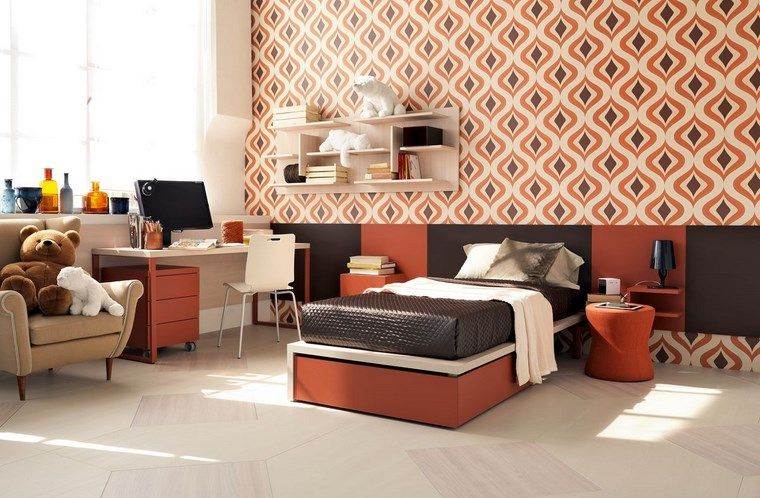 opciones decoracion habitacion nina papel pared moderno ideas