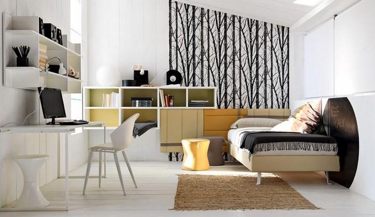 opciones decoracion habitacion nina pared blanco negro ideas