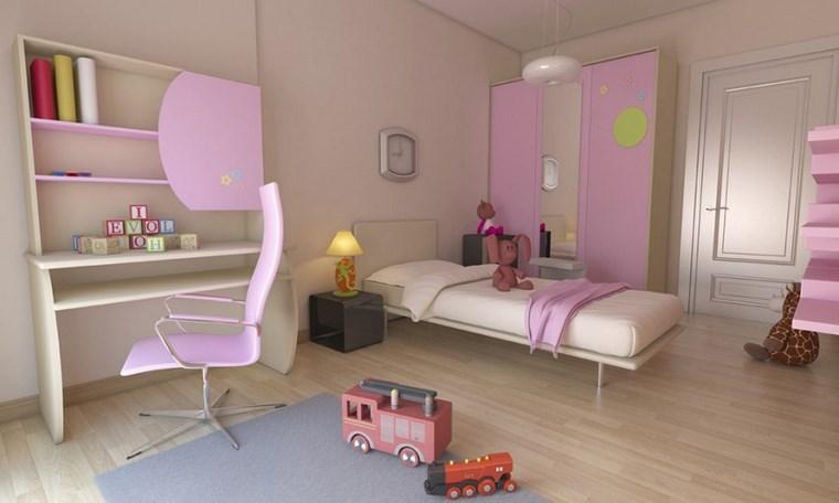 opciones decoracion habitacion nina silla rosa ideas