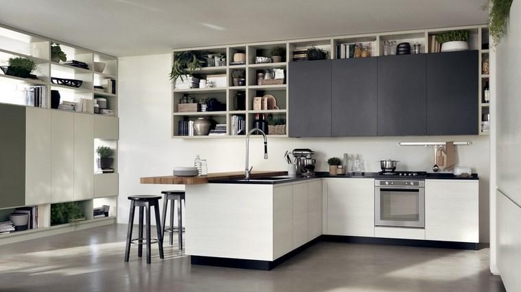 Cocina cuadrada con forma de u o l m s de 50 ideas para for Disenos de cocinas modernas 2016