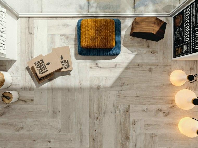 opciones losas ceramicas porcelana imitando madera estilo casa ideas