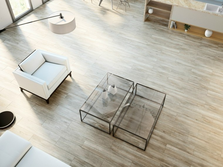 opciones losas ceramicas porcelana imitando madera mesas cristal ideas