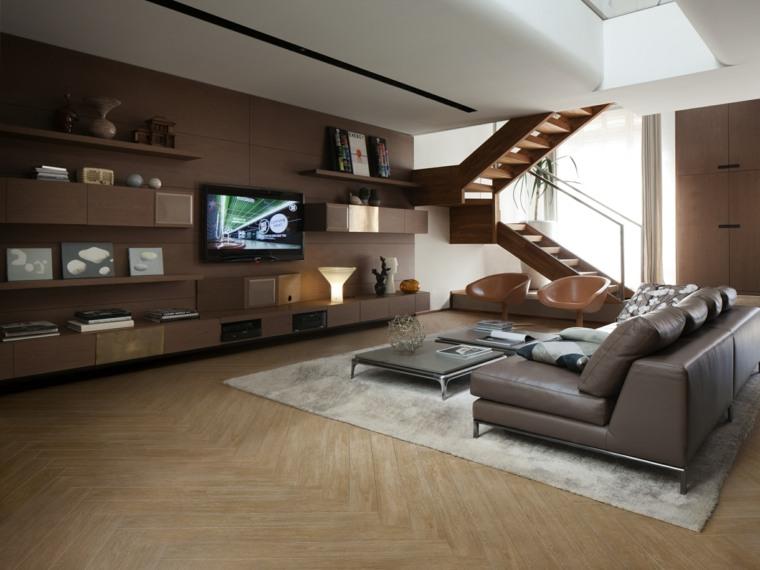 opciones losas ceramicas porcelana imitando madera sofa cuero salon ideas