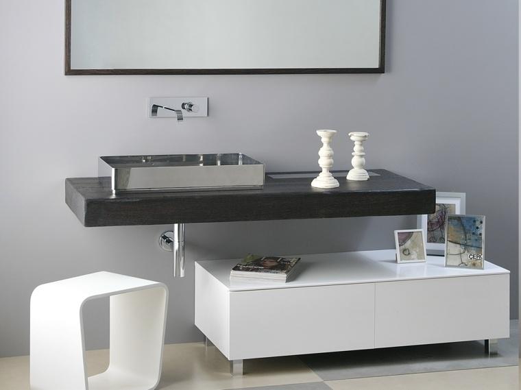 opciones muebles blancos bano moderno ideas