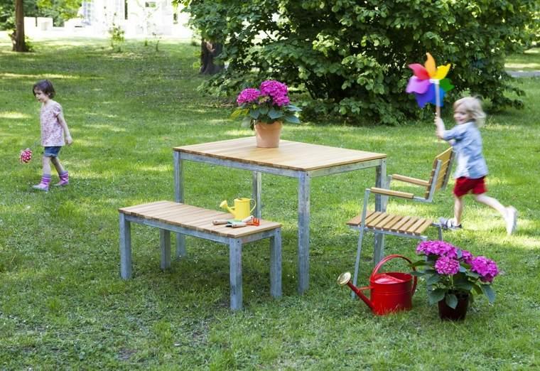 opciones muebles jardin amplio cesped ideas