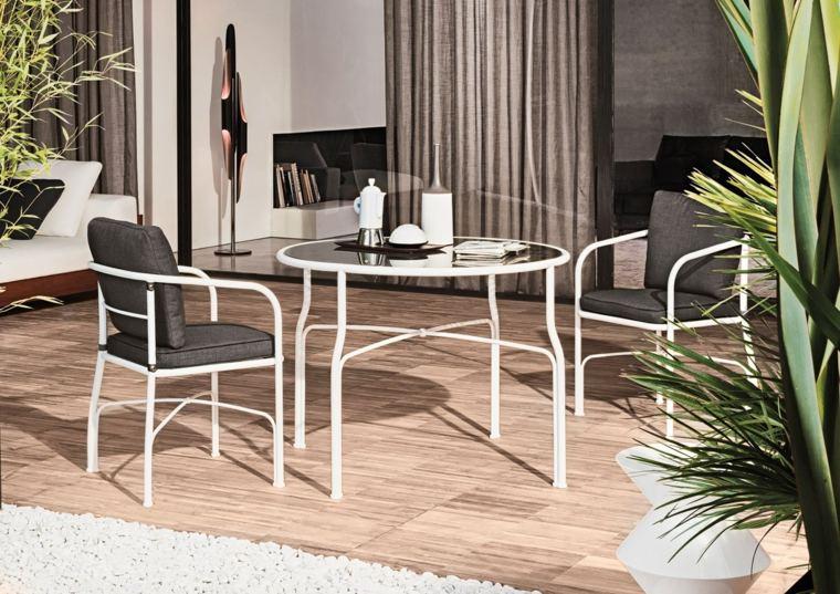 opciones muebles jardin originales acero blanco ideas
