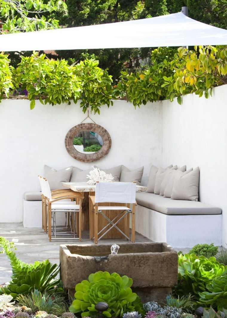 opciones muebles jardin originales banco hormigon ideas
