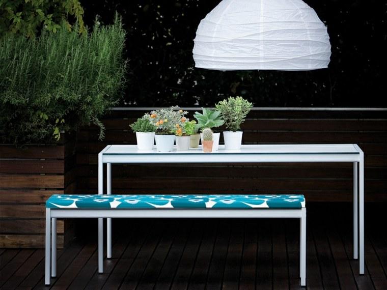 opciones muebles jardin originales banco mesa blancos ideas