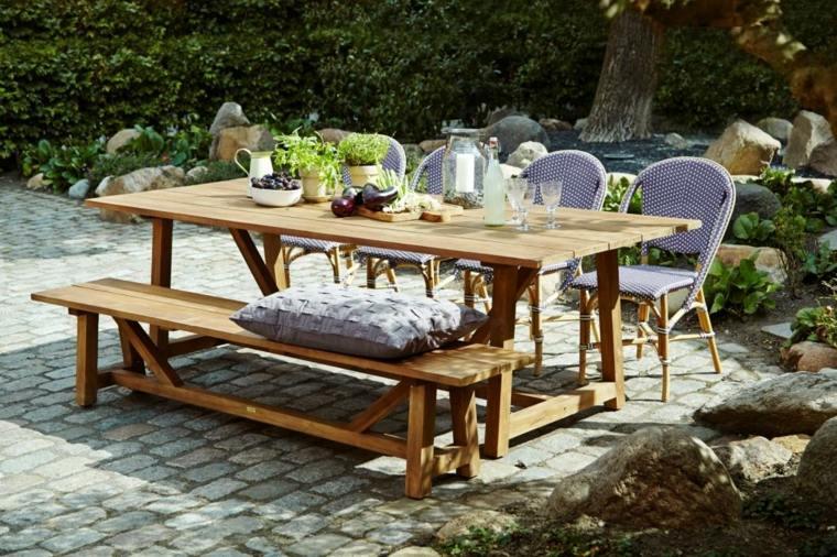 opciones muebles jardin originales banco sillas ideas