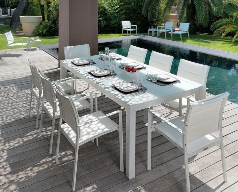 opciones muebles jardin originales blanco ideas