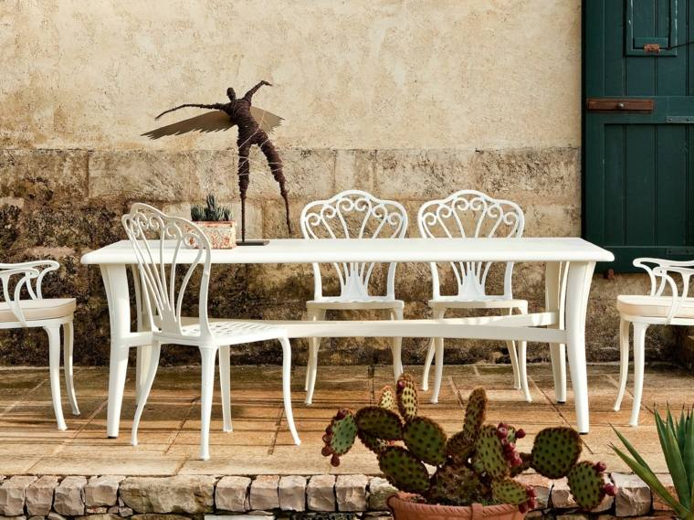 opciones muebles jardin originales blancos preciosos ideas