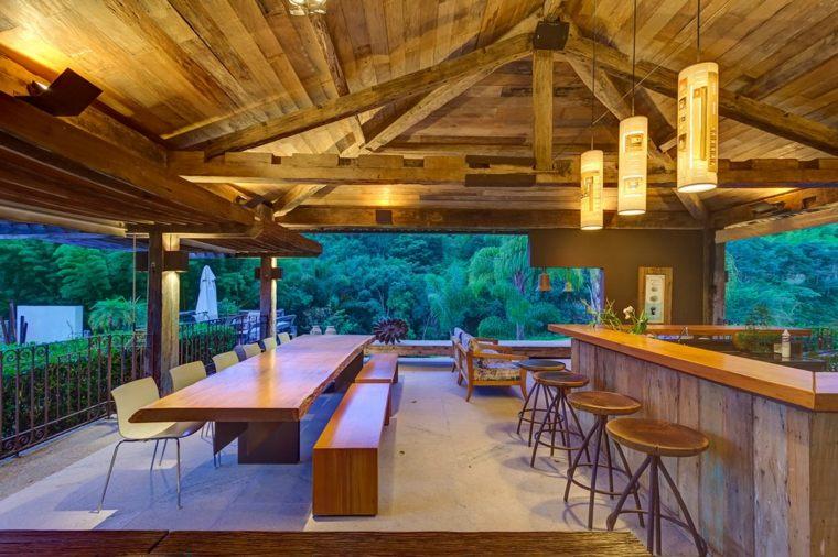 opciones muebles jardin originales casa pergola madera ideas