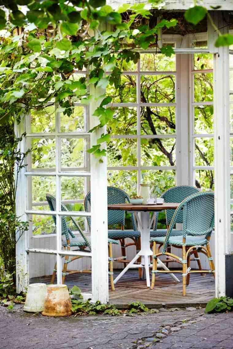 opciones muebles jardin originales gazebo blanco ideas