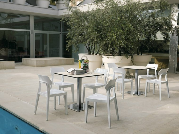 opciones muebles jardin originales macetas grandes ideas