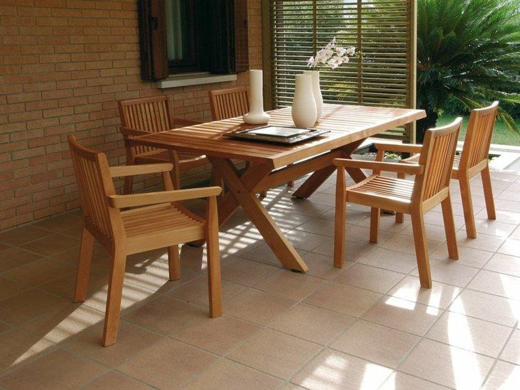 opciones muebles jardin originales madera natural ideas