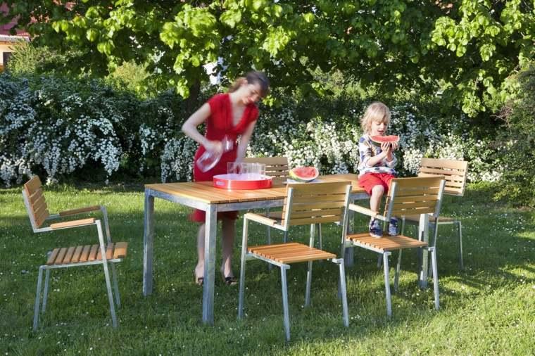 opciones muebles jardin originales madera teca ideas