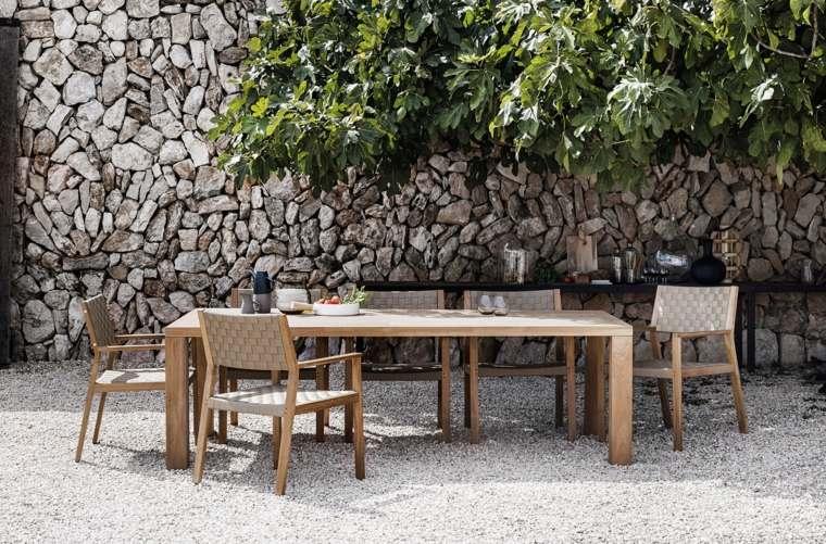 opciones muebles jardin originales mesa grande ideas