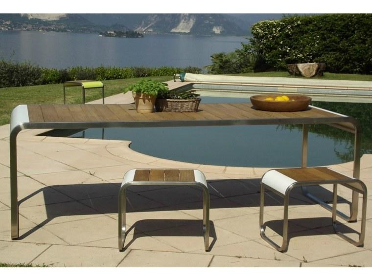 opciones muebles jardin originales mesa taburetes ideas