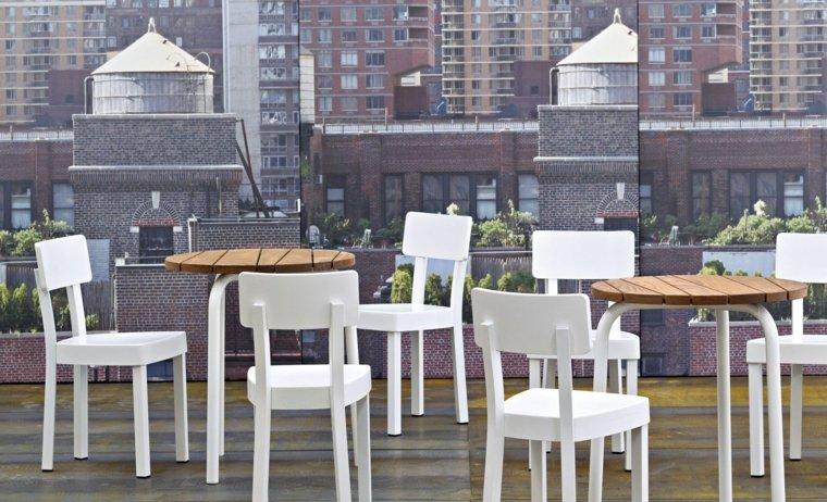 opciones muebles jardin originales mesitas pequenas madera ideas