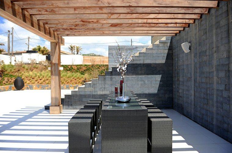 opciones muebles jardin originales modernos minimalista ideas