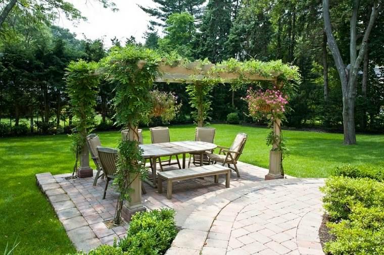 opciones muebles jardin originales natural plantas trepadoras ideas