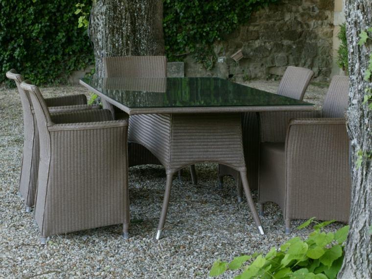 opciones muebles jardin originales rattan gris ideas