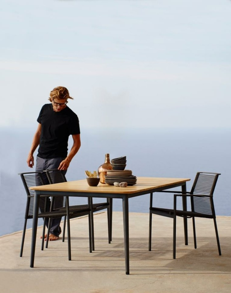 opciones muebles jardin originales sillas negra ideas